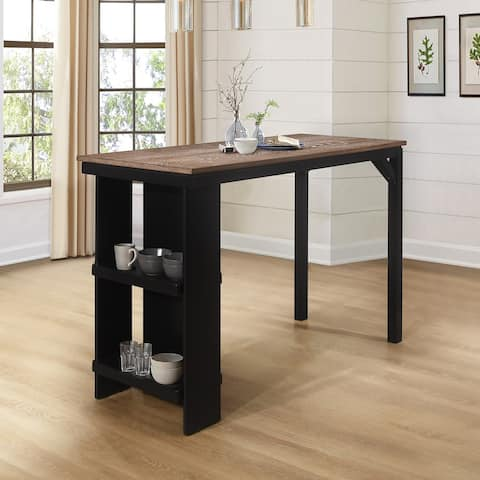 Hillsdale Furniture Knolle Park Wood Counter Height Table- Black - 36H x 55.25W x 23.75D
