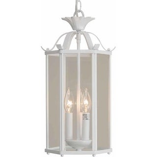 "Volume Lighting V5093 3 Light Foyer 16.25"" Height Pendant with Clear Glass Speci"
