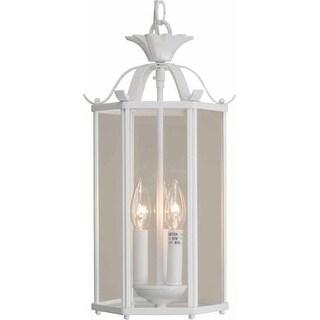 "Volume Lighting V5093 3 Light Foyer 16.25"" Height Pendant with Clear Glass Speci"