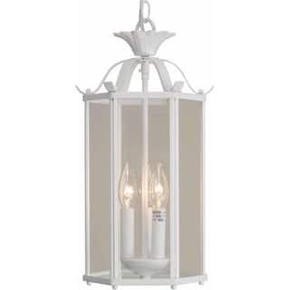 Volume Lighting V5093 3 Light Foyer 16 25 Height Pendant With Clear Gl Speci
