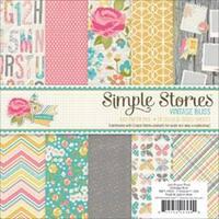 """Vintage Bliss - Simple Stories Paper Pad 6""""X6"""" 24/Pkg"""