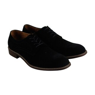 Kenneth Cole New York Design 10891 Mens Black Suede Casual Dress Oxfords Shoes