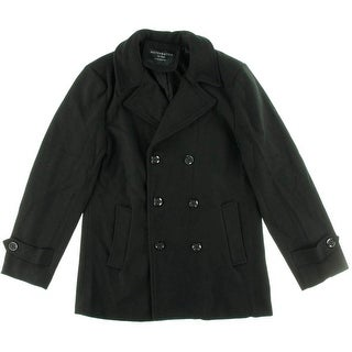 Match & Stick Womens Woven Double Breasted Pea Coat