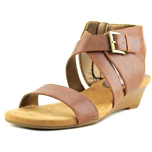 Aerosoles Propryetor Women Open Toe Leather Brown Wedge Sandal