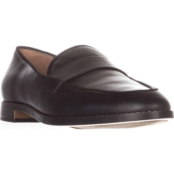 Franco Sarto Hudley Flat Loafers, Black Leather