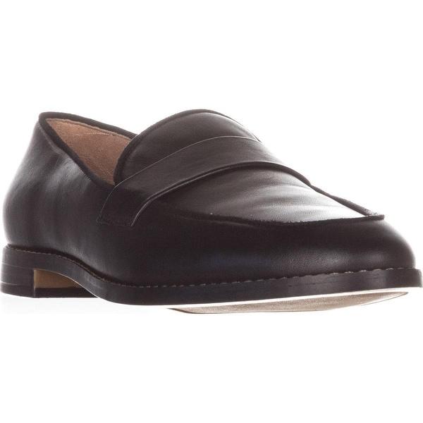 Franco Sarto Hudley Flat Loafers, Black Leather