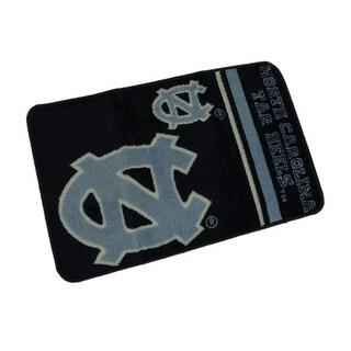 University of North Carolina Tar Heels 20 By 30 Inch Tufted Non-Skid Bath Rug - Blue