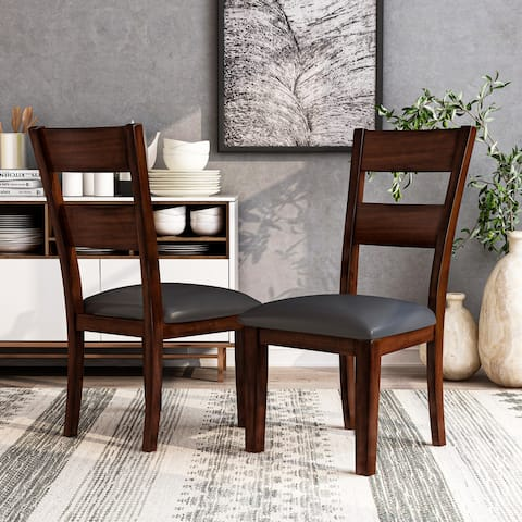 Furniture of America Paur Modern Cherry Dining Chairs (Set of 2)