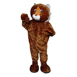 "Deluxe Plush Tiger Mascot Adult Halloween Costume - medium (38-40"" chest)"
