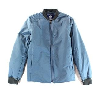 American Rag NEW Blue Mens Small S Full Zip Puffer Windbreaker Jacket