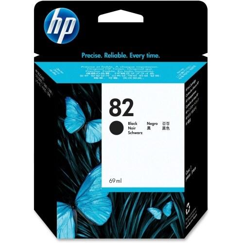 HP 82 28-ml Black DesignJet Ink Cartridge (CH565A)(Single Pack)