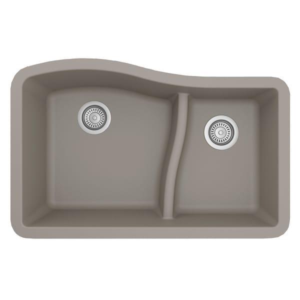 Karran Undermount Quartz Double-bowl Kitchen Sink. Opens flyout.