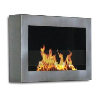 SoHo (Stainless Steel) Wall Mount Bio Ethanol Ventless Fireplace