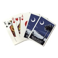 Beaufort, SC - Palmetto Moon - LP Artwork (Poker Playing Cards Deck)