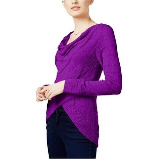 INC International Concepts Draped Crossover Top Sweater