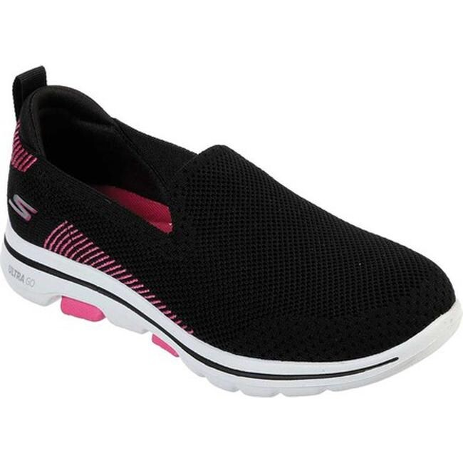 Skechers Women's GOwalk 5 Prized Slip On BlackPink
