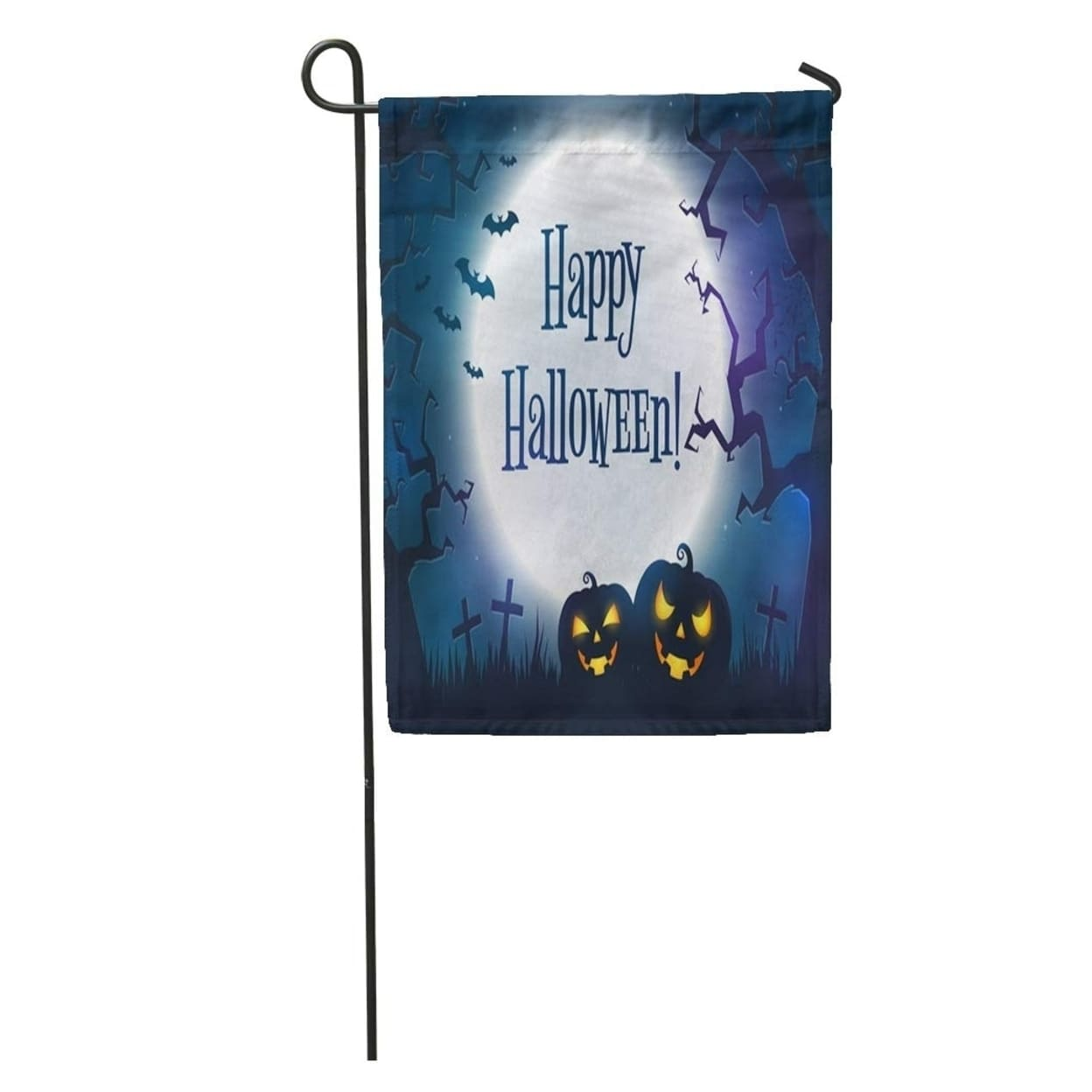 Happy Halloween Spooky Night Full Moon Scary Trees And Evil Garden Flag Decorative Flag House Banner 28x40 Inch On Sale Overstock 31381396