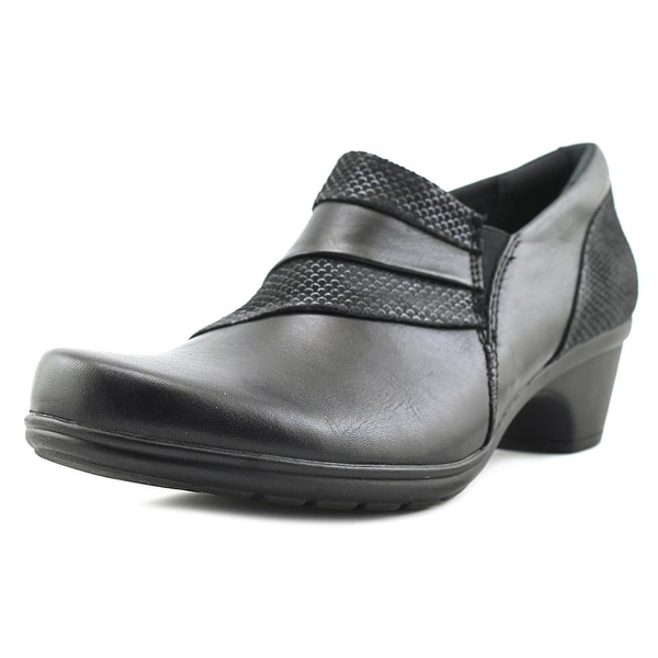 Earth Origins Reegan Women Round Toe Leather Black Heels