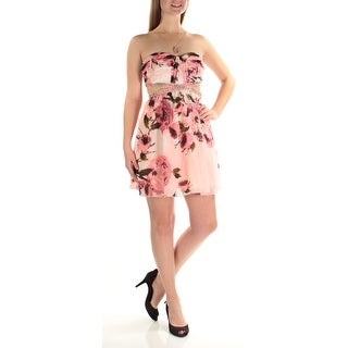 SPEECHLESS Womens New 1233 Pink Floral Beaded Cut Out Dress 7 Juniors B+B