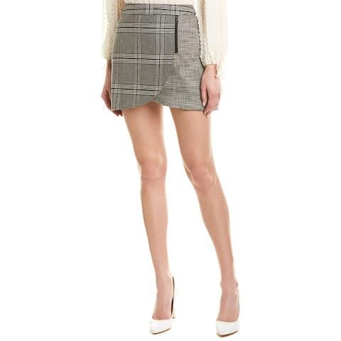 Alice + Olivia Lennon Wool-Blend Mini Skirt