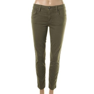 Genetic Los Angeles Womens Daphine Colored Cropped Skinny Jeans - 27