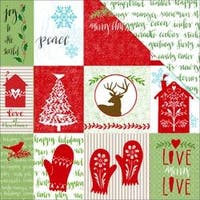 "Tags - Home For Christmas Glitter Paper 12""X12"" (15/Pack)"