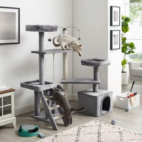 "Longshot® 53"" Gray Cat Tree"