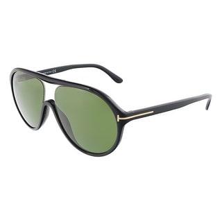 Tom Ford FT0443/S 01N EDISON Shiny Black Oval sunglasses