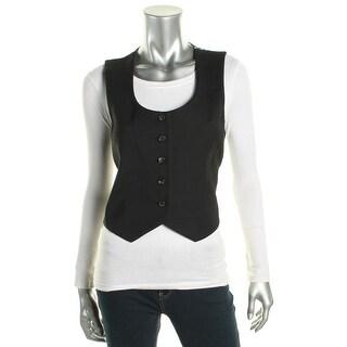 Diane Von Furstenberg Womens Vennice Casual Vest Silk Blend Printed