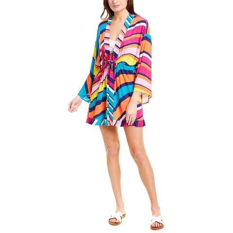 Trina Turk Catch A Wave Ruched Robe