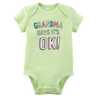 Carter's Baby Girls' Grandma Says It's Ok Collectible Bodysuit