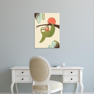 Easy Art Prints Jay Fleck's 'Mama Sloth' Premium Canvas Art