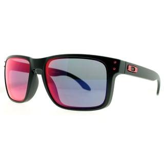 OAKLEY Square HOLBROOK Men's OO9102-36 Matte Black Blue Iridium Sunglasses - 55mm-18mm-137mm