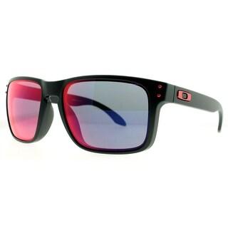 Oakley Holbrook OO9102-36 Matte Black Blue Iridium Sunglasses 55mm - MATTE BLACK - 55mm-18mm-137mm