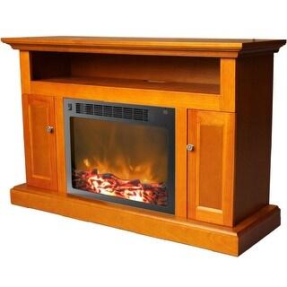 Cambridge Sorrento CAM5021-2TEK Fireplace Mantel with Electronic Fireplace Insert, Teak