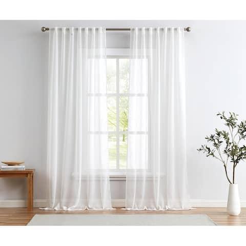 Cannon Sheer Window Curtain Panel Pair