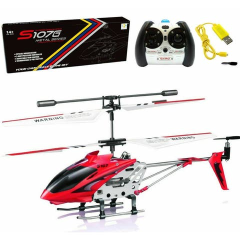 Syma S107G 3CH 3.5CH Mini Metal RC Helicopter Red Remote Control Vehicle