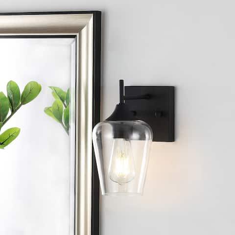 GetLedel 1-Light Industrial Glass Vanity Light Wall Sconce