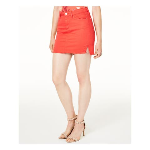 GUESS Womens Red Mini A-Line Skirt Size S