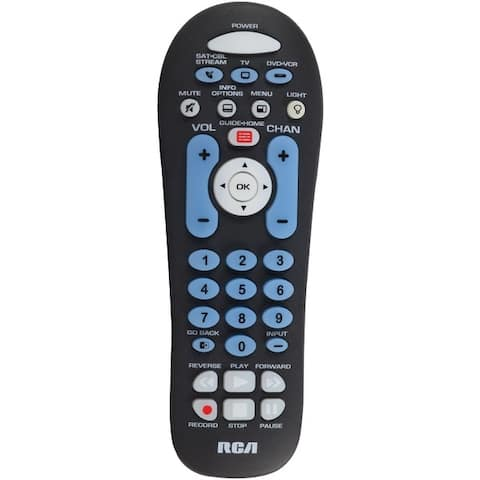 Rca Rcr313Br 3-Device Big-Button Universal Remote With Streaming & Dual Navigation (Black)