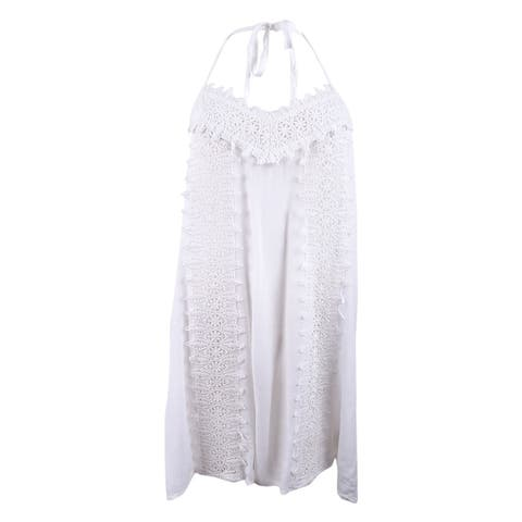 O'Neill Women's Waimea Embroidered Halter Dress Cover-Up