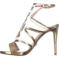 Thalia Sodi Womens Regalo Fabric Open Toe Special Occasion Ankle Strap Sandals