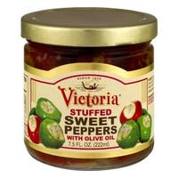 Victoria Sweet Peppers, with Olive Oil, Stuffed - 7.5 fl oz x 12