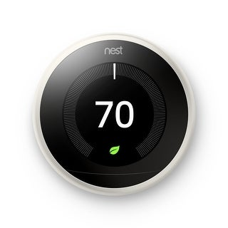 Nest (T3017US) Learning Thermostat, Easy Temperature Control, White (Third Generation)
