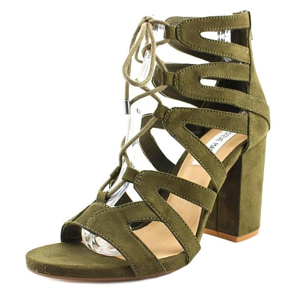 bfe02db3a8 Shop Steve Madden Gal Olive Sandals - Free Shipping On Orders Over ...