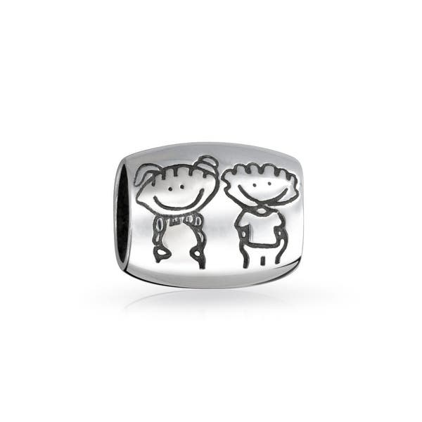 Brother Sister Charm Bead