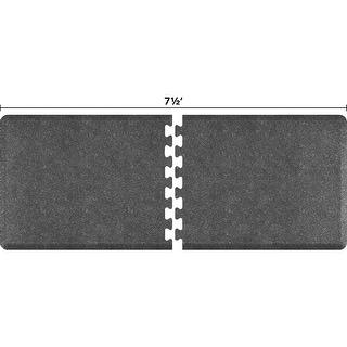 WellnessMats Anti-Fatigue Office & Kitchen Mat, PuzzlePiece Collection R Series, 7.5 Feet by 3 Feet, Granite Steel