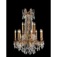 Worldwide Lighting W83309FG24-CL Windsor 12-Light Candle Style Crystal Chandelier - french gold - n/a