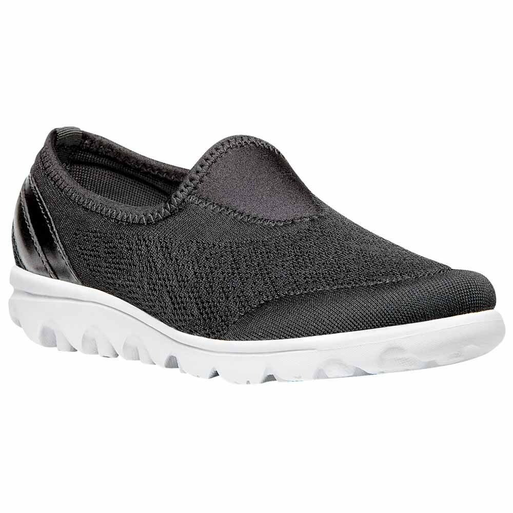 Womens Black Propet TravelActiv Slip On Sneakers  Casual