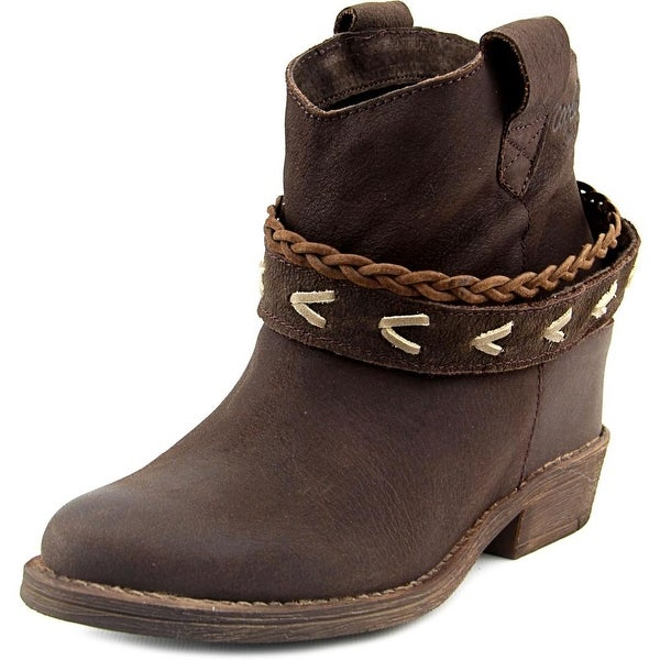Coolway Caliope Women Round Toe Leather Brown Ankle Boot
